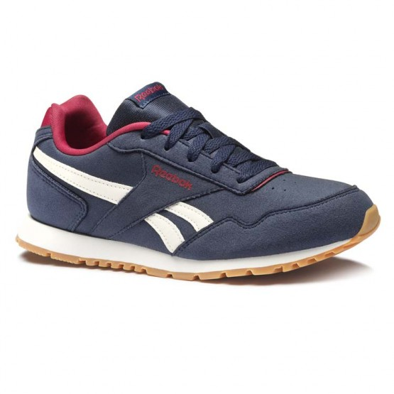 Reebok Royal Glide Shoes Kids Collegiate Navy/Cranberry Red/Chalk/Gum (227PMWUX)