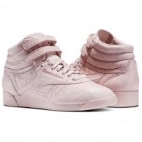 Reebok Freestyle HI Shoes Womens Polish Pink (237RPEOD)