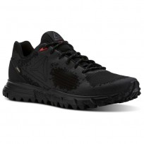 Reebok Sawcut Walking Shoes For Men Black/Grey/Red (239SLXFZ)
