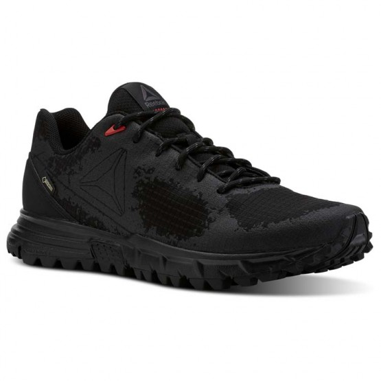 Reebok Sawcut Walking Shoes Mens Black/Ash Grey/Primal Red (239SLXFZ)