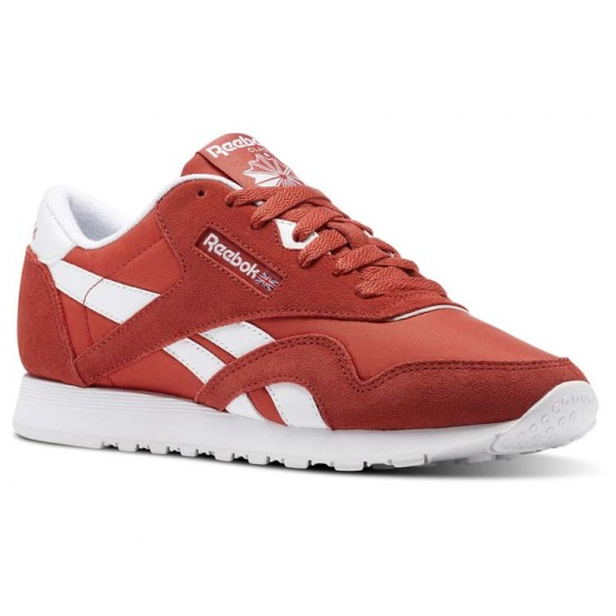 Reebok Classic Nylon Shoes Womens Red/Clay Tint/White (240VUOKR)