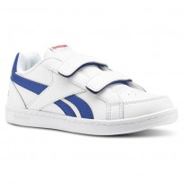 Reebok Royal Prime Shoes Kids White/Collegiate Royal/Primal Red (242QZAHI)