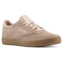 Reebok Club C 85 Shoes Womens Gum-Bare Beige/Gum (246NHYTO)