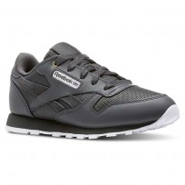 Reebok Classic Leather Shoes For Kids White (247XBDFP)