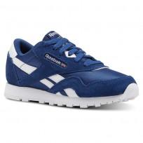 Reebok Classic Nylon Shoes For Kids Blue/White (250UDBRM)