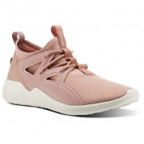 Reebok Cardio Motion Studio Shoes Womens Chalk Pink/Urban Maroon/Chalk (253KCOYM)