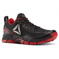 Reebok Ridgerider Trail 2.0 Walking Shoes For Men Black/Red/Silver (256HECOY)