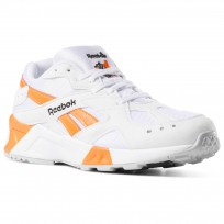 Reebok Aztrek Shoes Mens Enh-White/Black/Solar Orange (263YIJAZ)