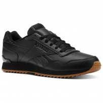 Reebok Royal Glide Shoes Mens Black/Gum (270LNGIE)