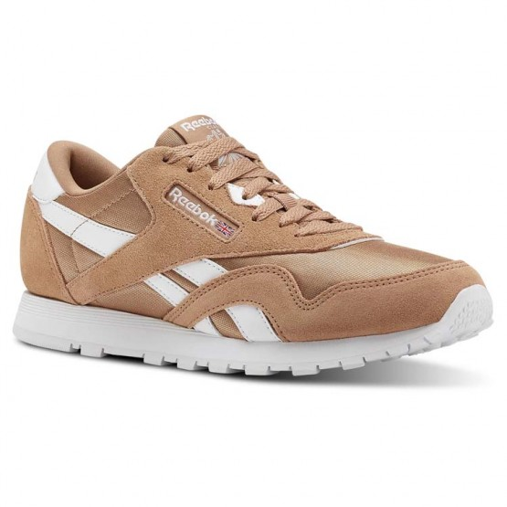 Reebok Classic Nylon Shoes For Girls Brown/White (277DTEAO)
