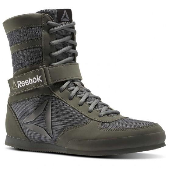Reebok Boxing Tactical Shoes Mens Green/Iron Stone/Black (281EUFQN)