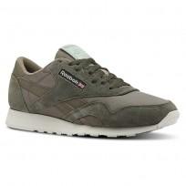 Reebok Classic Nylon Shoes Mens Top-Dark Cypress/Terrain Grey/Skull Gry/Green (283FGPKZ)
