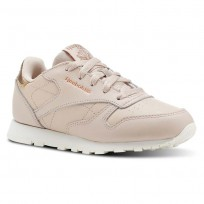 Reebok Classic Leather Shoes Girls Rm-Bare Beige/Chalk (285EMWHC)