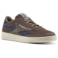 Reebok Revenge Plus Shoes Mens Brown/Smoky Taupe/Washed Blue/Chalk/Excellent Red (286XGMVT)