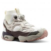 Reebok INSTAPUMP Shoes For Men White/Grey/White/Pink (287FGDVI)