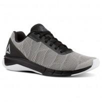 Reebok Flexweave Run Running Shoes Mens White/Alloy/Tin Grey/Black (294TJSVG)