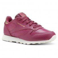 Reebok Classic Leather Shoes Girls Rm-Twisted Berry/Chalk (313NTVHB)