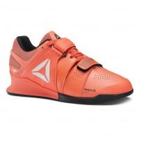Reebok Legacy Lifter Shoes Womens Vitamin C/Black/White (317HVFGE)