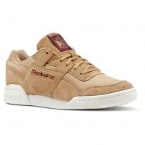 Reebok Workout Plus Shoes Mens Rs/Soft Camel/Rustic Wine/Chalk (317MJXVE)