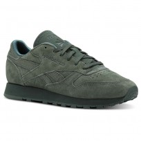 Reebok Classic Leather Shoes For Women Green (317ZFYQW)