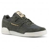 Reebok Workout Plus Shoes Mens Rs/Dark Cypress/Sahara/Chalk (321VDSQG)