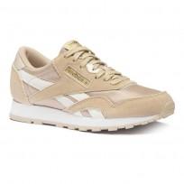 Reebok Classic Nylon Shoes For Kids Beige/Gold (323JLIWM)
