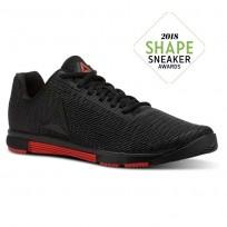 Reebok Speed Training Shoes For Men Black (326GPXVQ)