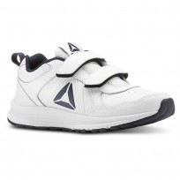 Reebok ALMOTIO 4.0 Running Shoes Kids White/Col Navy/Pewter (338TNDCQ)