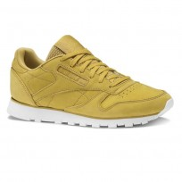 Reebok Classic Leather Shoes Womens Enh-Wild Khaki/Chalk (344AOMYV)