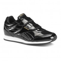Reebok Royal Classic Jogger Shoes For Girls Black/Gold (344UEBRW)