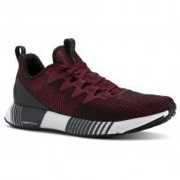 Reebok Fusion Flexweave Running Shoes Mens Black/Rustic Wine/Cranberry Red/Coal (349CNESI)