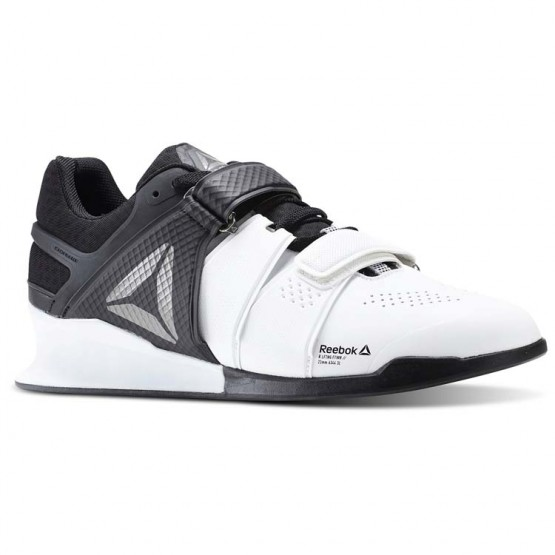 Reebok Legacy Lifter Shoes Mens White/Black/Pewter (350FODGJ)