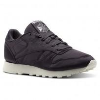Reebok Classic Leather Shoes Womens Purple/Smoky Volcano/Classic White (351FTBZJ)