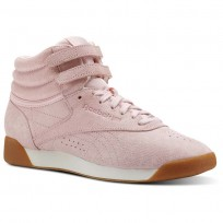 Reebok Freestyle HI Shoes Womens Exotics-Practical Pink/Chalk (351RLGNS)