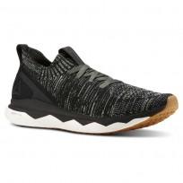 Reebok Floatride RS ULTK Running Shoes Mens Black/Chalk Green/Parchment/Gum/Skull Grey (355JHQPO)