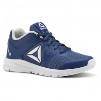 Reebok Rush Runner Running Shoes For Girls Blue/Grey/White (359FLQVM)