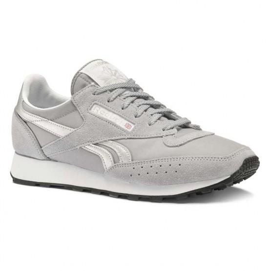 Reebok Classic 83 Shoes For Men Grey/White/Silver/Black (368IHBFU)
