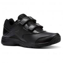 Reebok Walk Walking Shoes For Men Black/Black (372UXEQK)