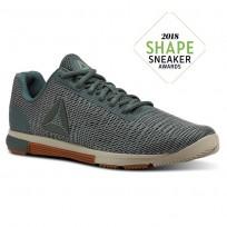 Reebok Speed Training Shoes Mens Chalk Green/Industrial Green/Parchment/Gum (378GDKMY)