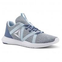 Reebok Reago Training Shoes Womens Blue Slate/Dreamy Blue/White (379OLDUJ)