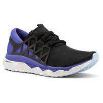 Reebok Floatride Run Running Shoes Womens Black/Ultima Purple/White/Dreamy Blue (383QDSPI)