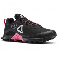 Reebok All Terrain Running Shoes Womens Black/Solar Pink/Silver (387EHPAY)