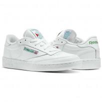 Reebok Club C 85 Shoes Mens Intense White/Green (387HYBVP)