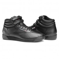 Reebok Freestyle HI Schoenen Dames Zwart (387YUOAI)
