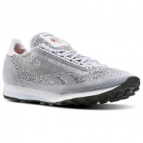 Reebok Aztec Shoes Mens White/Cloud Grey/Black/Pewter (390FLZHX)