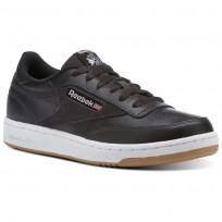 Reebok Club C 85 Shoes Kids Coal/White/Washed Blue (391NVQIJ)