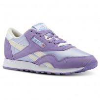 Reebok Classic Nylon Shoes For Women Purple (391USIFH)