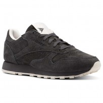 Reebok Classic Leather Shoes Womens Ash Grey/Pale Pink (392ZOXYC)