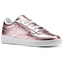 Reebok Club C 85 Shoes Womens Pink/Copper/White (395HJMDS)