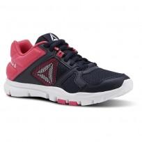 Reebok YourFlex Train 10 Training Shoes Girls Collegiate Navy/Twisted Pink/White (396TRJGF)